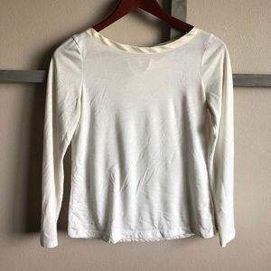 Cream colored women's shirt